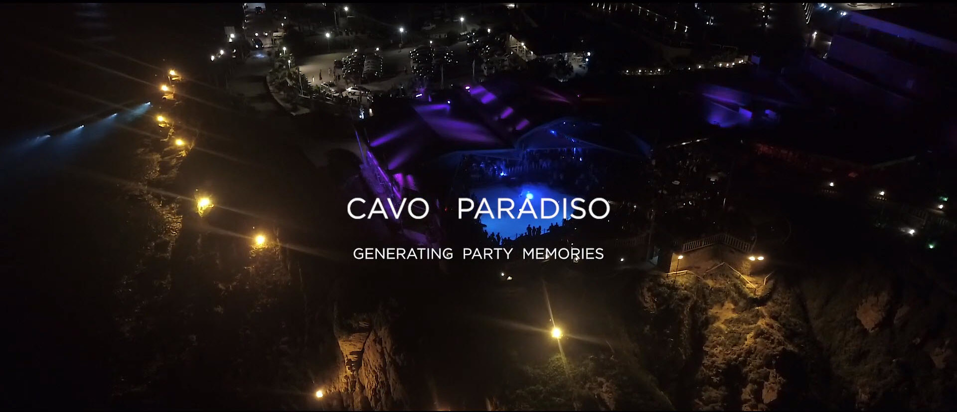 Cavo Paradiso Club in Mykonos Aerial View