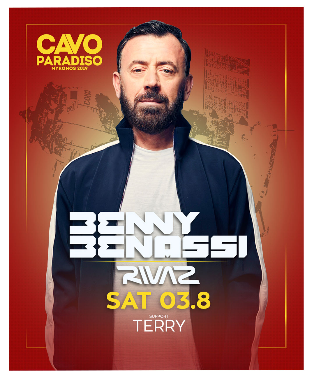 Benny Benassi along w/ Rivaz & support by Terry